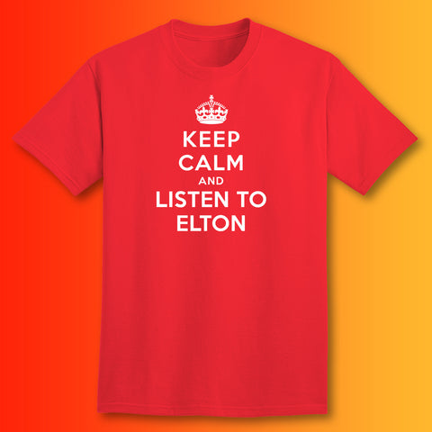 Elton John T-Shirt with Keep Calm Design