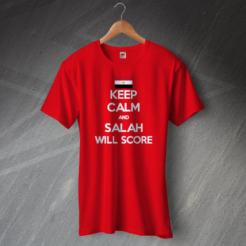 Egypt Football T-Shirt Keep Calm and Salah Will Score
