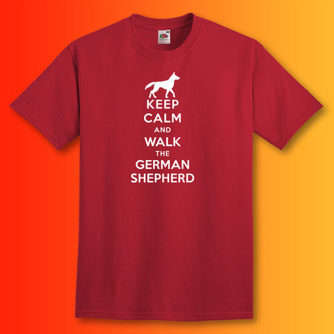 German Shepherd T-Shirt with Keep Calm Design