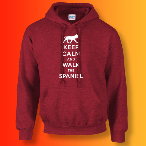 Keep Calm and Walk The Spaniel Unisex Hoodie