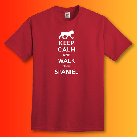 Keep Calm and Walk The Spaniel Unisex T-Shirt