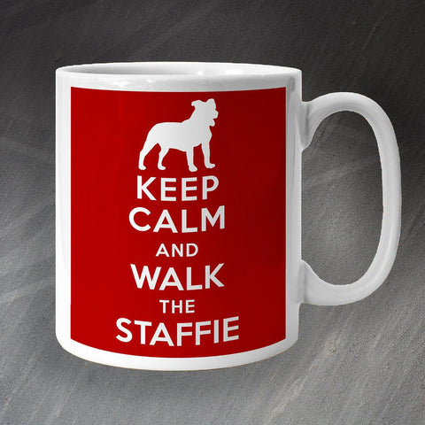 Staffordshire Bull Terrier Mug Keep Calm and Walk The Staffie