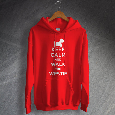 West Highland White Terrier Hoodie Keep Calm and Walk The Westie