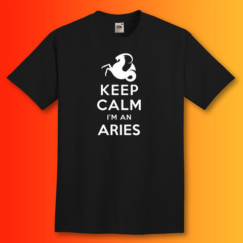 Keep Calm I'm an Aries T-Shirt Black