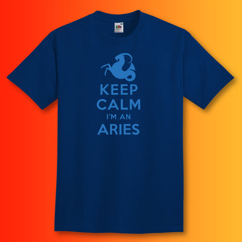 Keep Calm I'm an Aries T-Shirt Navy