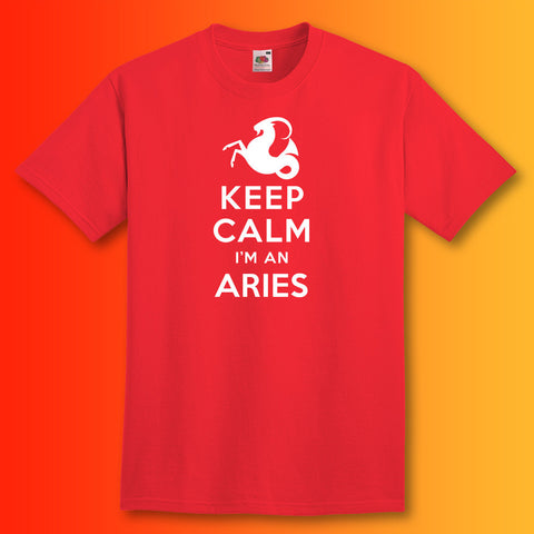 Keep Calm I'm an Aries T-Shirt Red