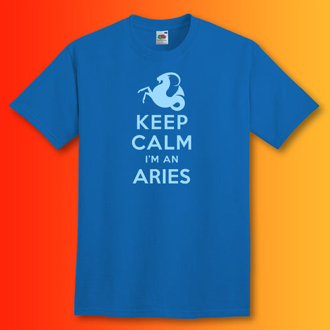Keep Calm I'm an Aries T-Shirt Royal Blue