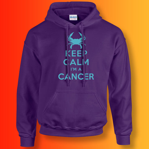 Keep Calm I'm a Cancer Hoodie Purple