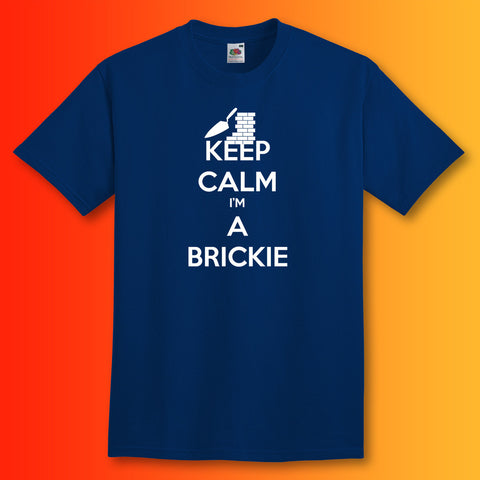 Keep Calm I'm a Brickie T-Shirt Navy