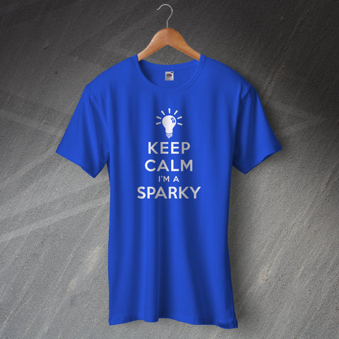 Electrician T-Shirt Keep Calm I'm a Sparky Light Bulb