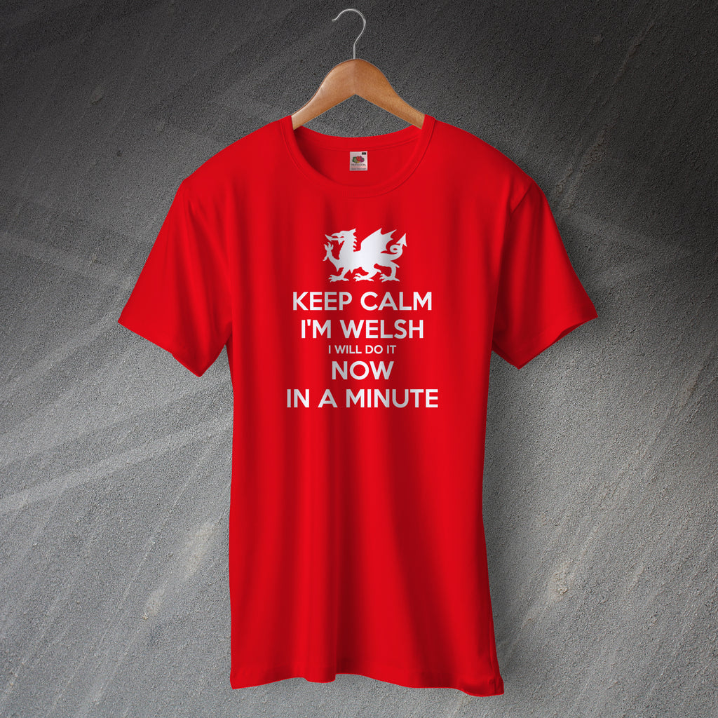 Keep Calm I'm Welsh I Will Do It Now In a Minute Unisex T-Shirt