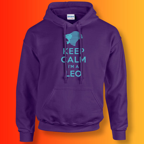 Keep Calm I'm a Leo Hoodie Purple