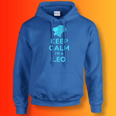 Keep Calm I'm a Leo Hoodie Royal Blue