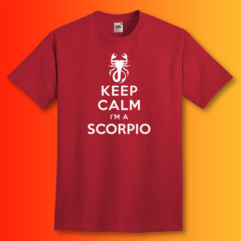 Keep Calm I'm a Scorpio Unisex T-Shirt
