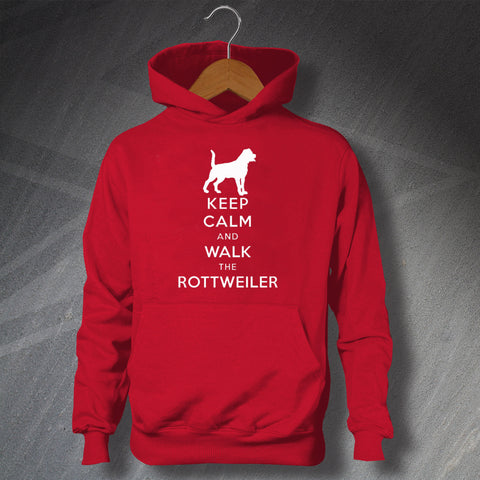 Rottweiler Hoodie with Keep Calm Design