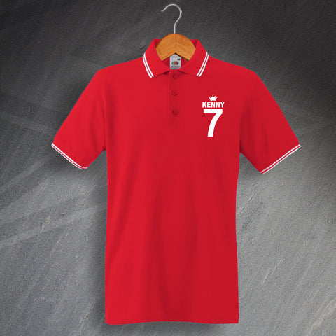 Liverpool Football Polo Shirt Embroidered Tipped Kenny 7