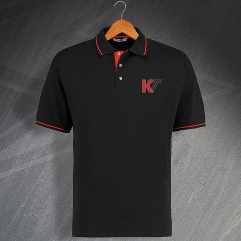 Kettering Football Polo Shirt Embroidered Contrast 1976