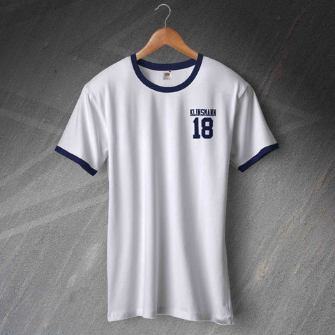 Tottenham Football Shirt Embroidered Ringer Klinsmann 18