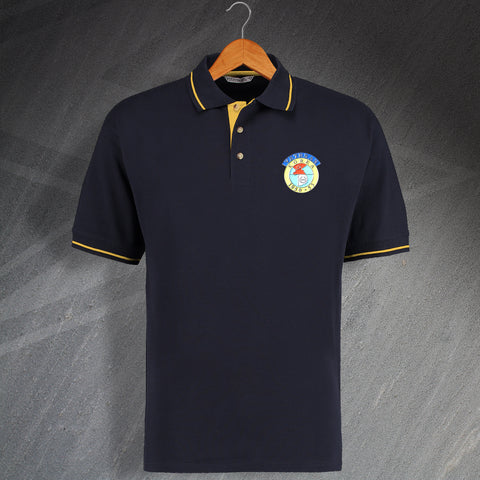 Korean War Veteran Embroidered Contrast Polo Shirt