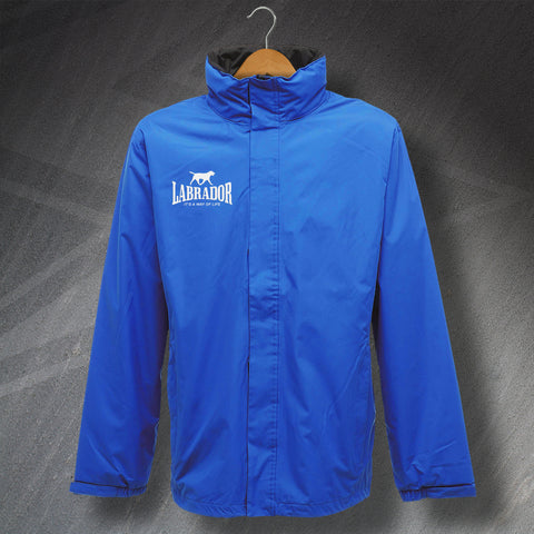 Personalised It's a Way of Life Embroidered Waterproof Jacket with any Dog Breed Name & Graphic