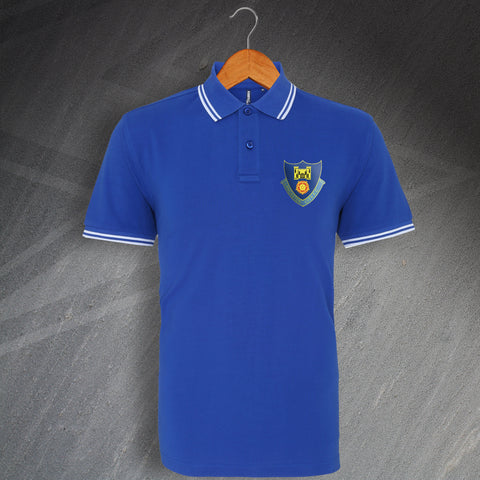 Lancaster Football Polo Shirt Embroidered Tipped 1937