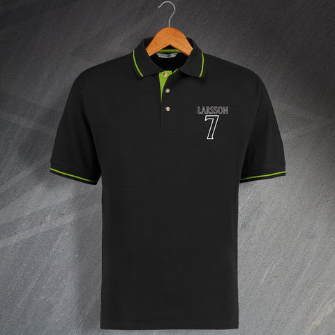 Celtic Football Polo Shirt Embroidered Contrast Larsson 7