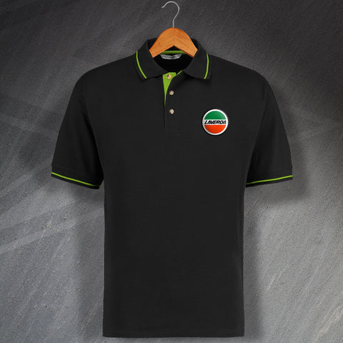 Laverda Polo Shirt Embroidered Contrast