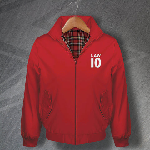 Law 10 Football Harrington Jacket Embroidered