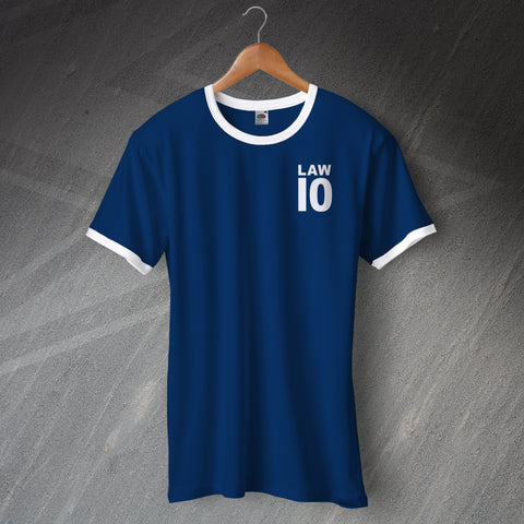 Scotland Football Shirt Embroidered Ringer Law 10