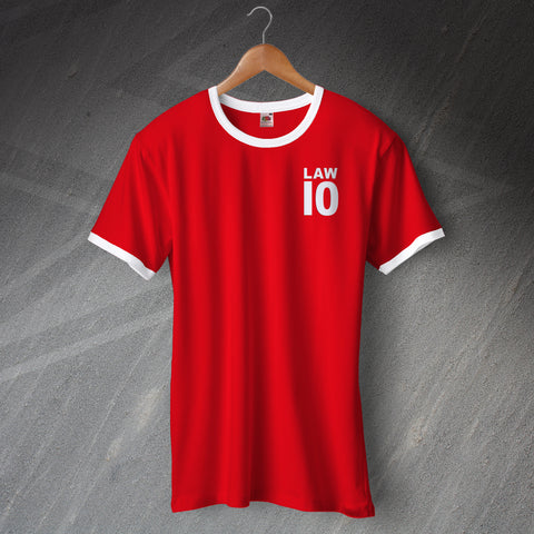 United Football Shirt Embroidered Ringer Law 10