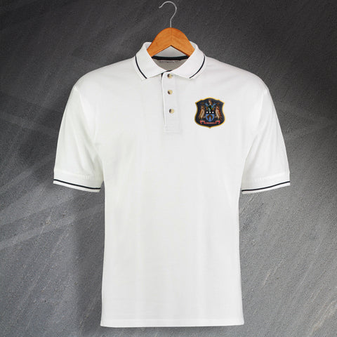 Leeds Football Polo Shirt Embroidered Contrast Leeds City 1900s