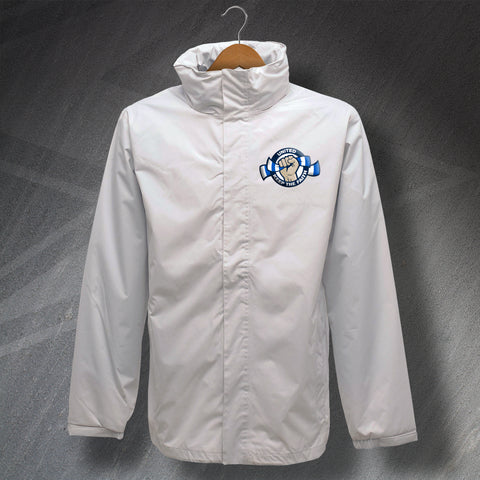Leeds Football Jacket Embroidered Waterproof United Keep The Faith
