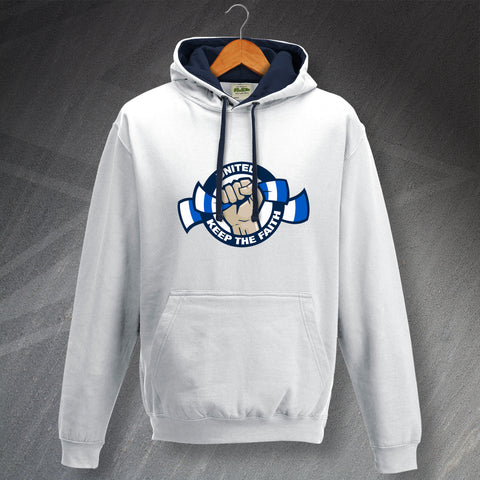 Leeds Football Hoodie Contrast United Keep The Faith