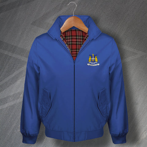 The Rhinos Rugby Harrington Jacket Embroidered Leeds RLFC