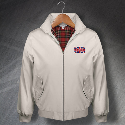 Leeds Football Harrington Jacket Embroidered Union Jack