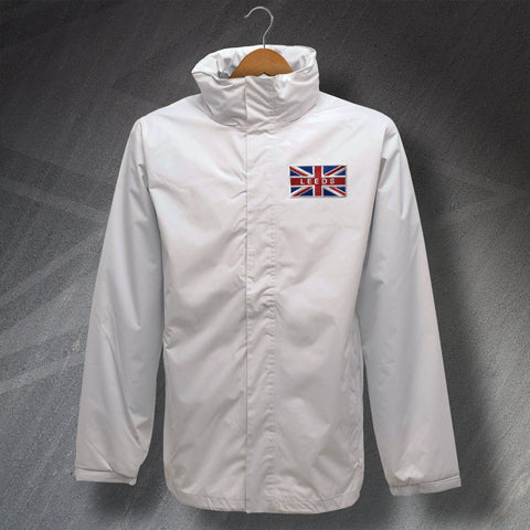 Leeds Football Jacket Embroidered Waterproof Union Jack