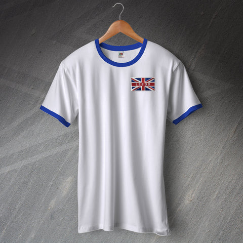 Leeds Football Shirt Embroidered Ringer Union Jack