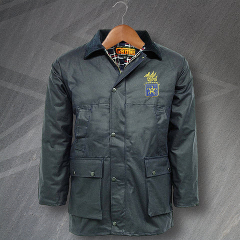 Leicester Football Wax Jacket Embroidered Padded Leicester Fosse FC