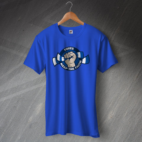 Leicester Football T-Shirt Foxes Keep The Faith