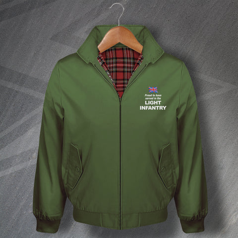 Proud to Have Served In The Light Infantry Embroidered Classic Harrington Jacket