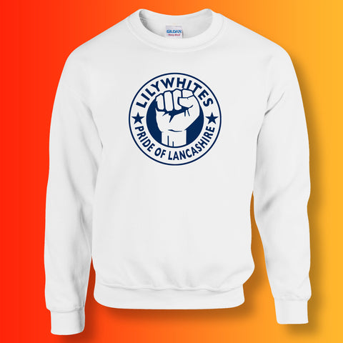 Lilywhites Sweater with The Pride of Lancashire Design