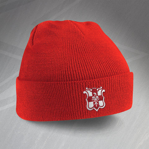 Lincoln Football Beanie Hat Embroidered 1950s