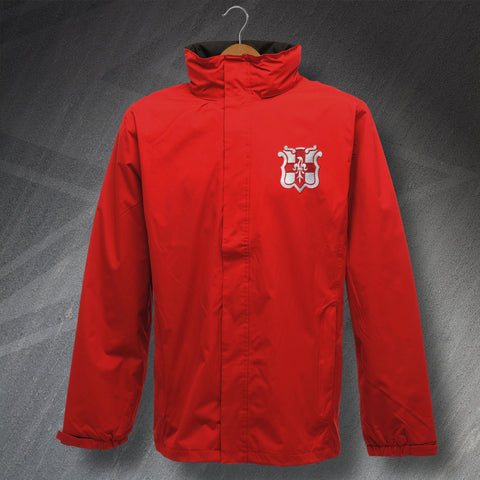 Retro Lincoln Waterproof Jacket with Embroidered Badge