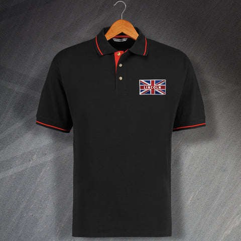 Lincoln Polo Shirt Embroidered Contrast Union Jack