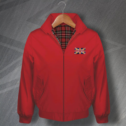 Liverpool Football Harrington Jacket Embroidered Union Jack & European Stars