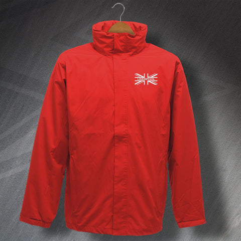 Liverpool Waterproof Jacket with Embroidered Union Jack Flag