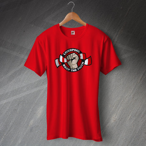 Liverpool Football T-Shirt Keep The Faith