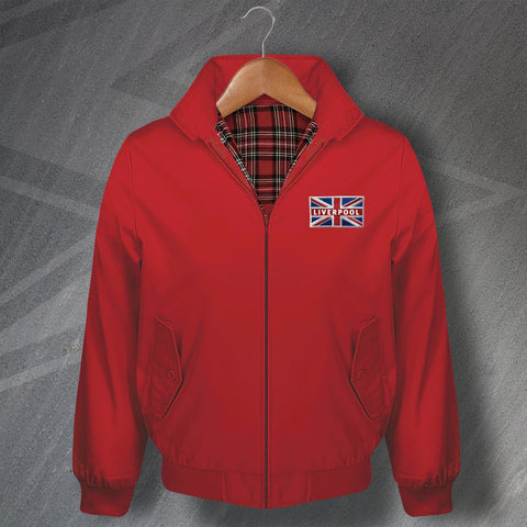 Liverpool Football Harrington Jacket Embroidered Coloured Union Jack