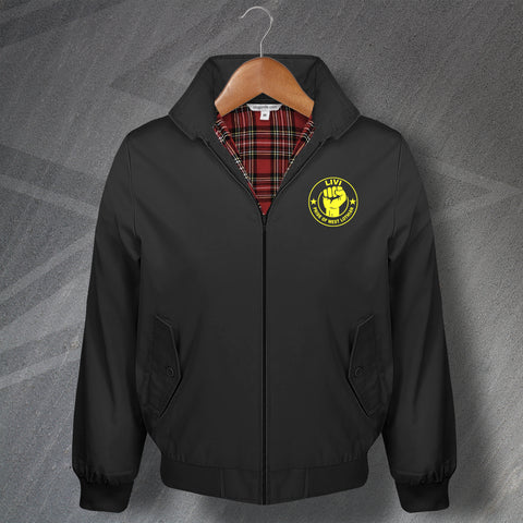 Livingston Football Harrington Jacket Embroidered Livi Pride of West Lothian