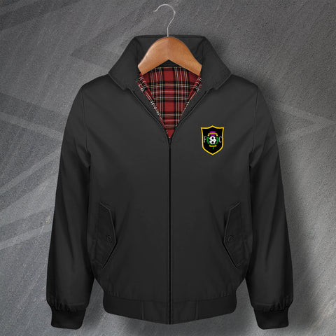 Retro Livingston Classic Harrington Jacket with Embroidered Badge